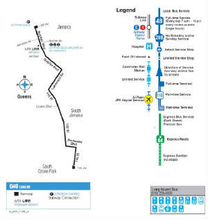 Q40 Bus Route - 142nd St Q Bus Route Map on