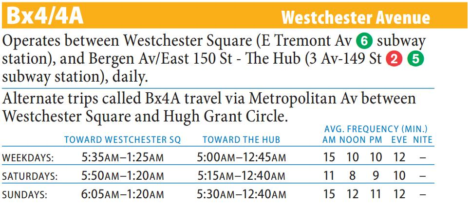 Bx4 Bus Route - Maps - Schedules
