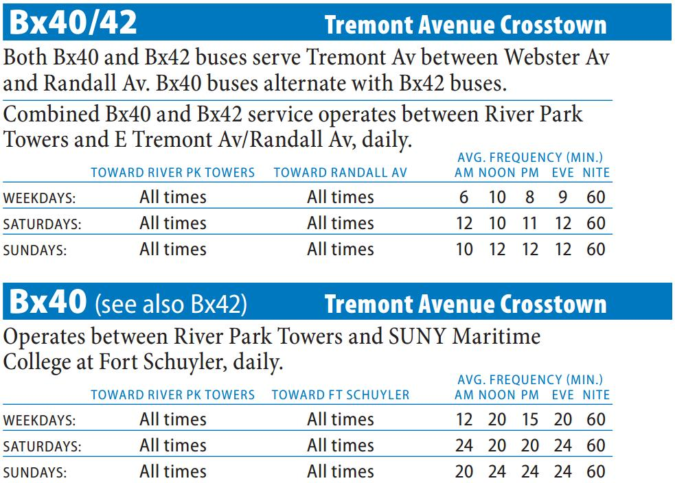 Bx40 Bus Route - Maps - Schedules