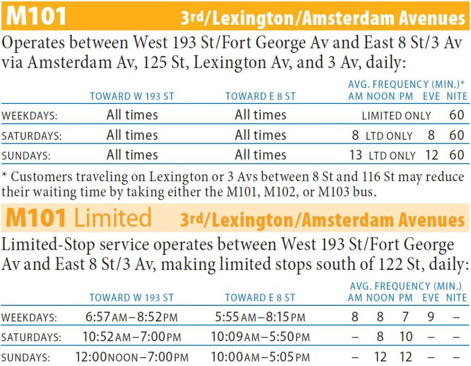 M101 Bus Route - Maps - Schedules