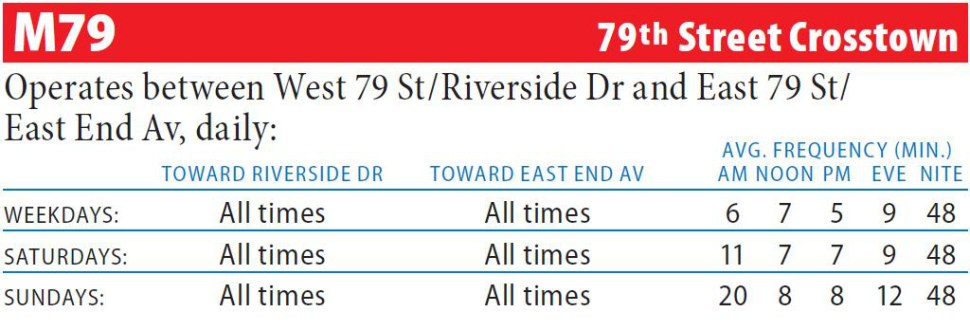 M79 Bus Route - Maps - Schedules