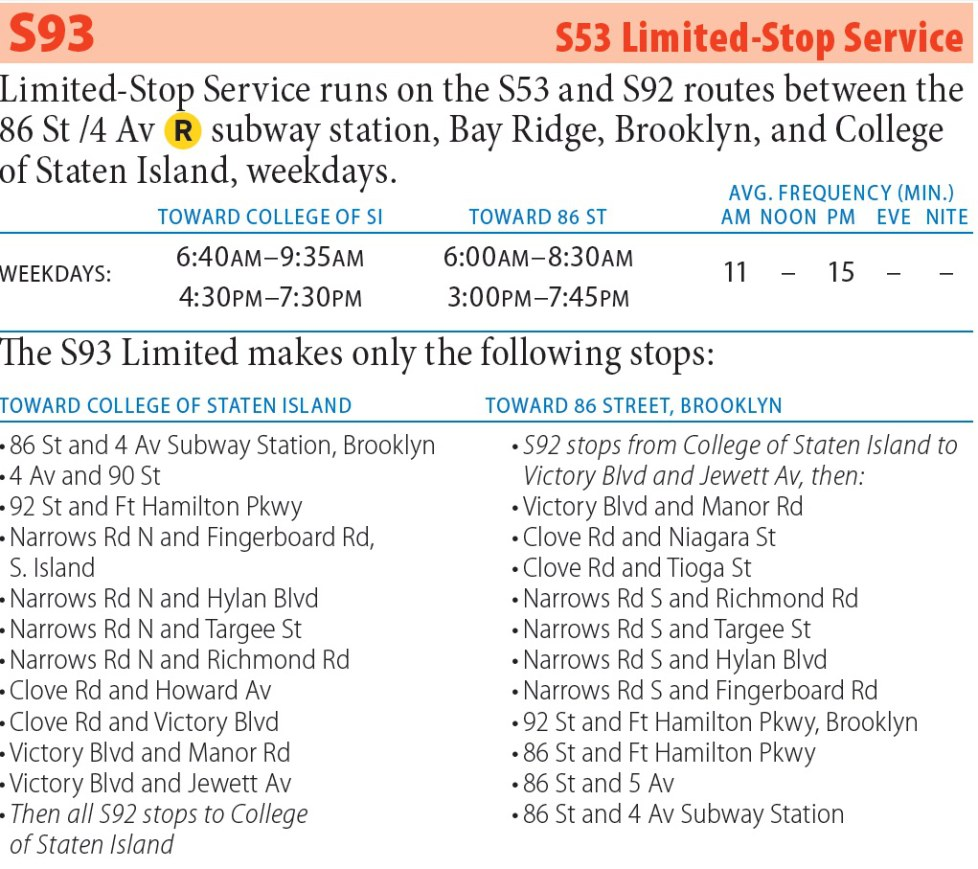 S93 Bus Route - Maps -Schedules
