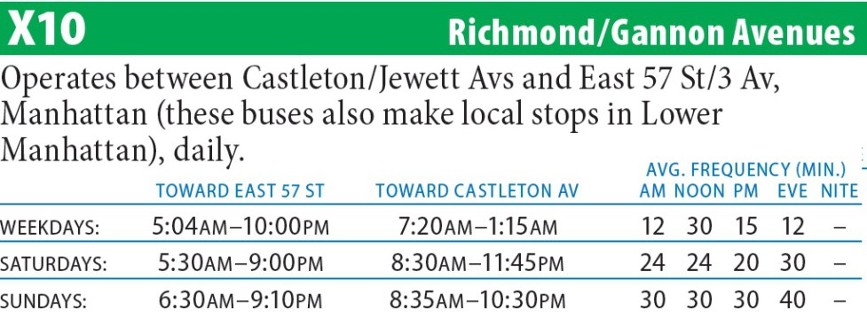 X10 Bus Route - Maps -Schedules