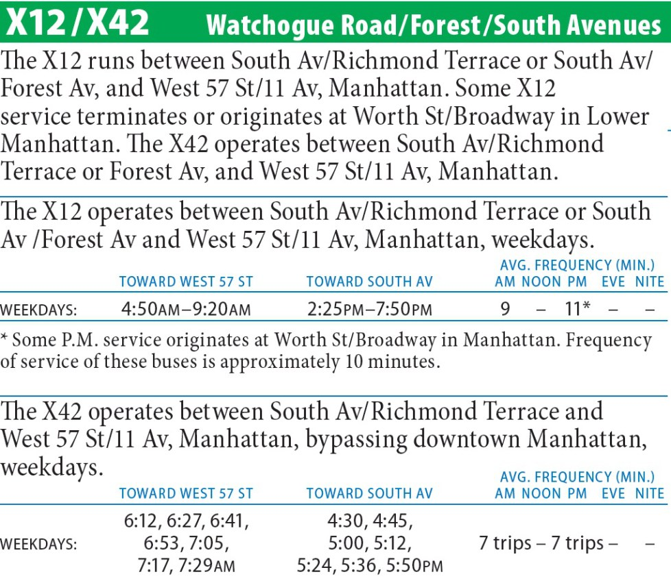X12 Bus Route - Maps -Schedules